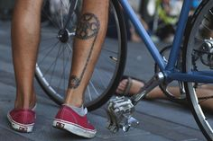 #tattoo #calf #bike