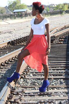 Girl on rr tracks