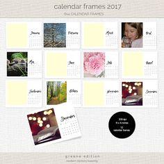 FREE bina greene: 2017 Calendar Frames pocket journalers/project life cards