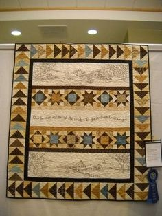 This looks like a quilt my mom made. Quilting Ideas, Quilting Projects, Quilting Designs, Quilt Patterns, Panel Quilts, Quilt Blocks, Crabapple Hill, Quilt Pictures, Flying Geese Quilt