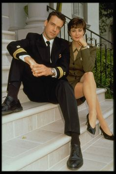 """Catherine Bell and David James Elliott, """"JAG"""", Katherine Bell, Sport Tv, Crossover, David James Elliott, The Good Witch, Hollywood, Foto Art, Best Tv, Beautiful Celebrities"""