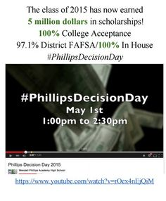 """Watch """"Phillips Decision Day 2015"""" on YouTube https://youtu.be/rOex4nEjQiM"""
