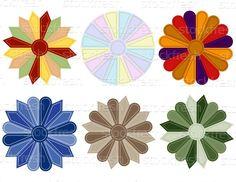 Different types of Dresden Quilt Blocks