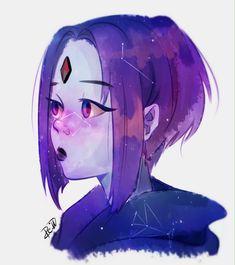 Raven and Starfire Teen Titans Raven, Teen Titans Fanart, Starfire And Raven, Beastboy And Raven, Raven Beast Boy, Univers Dc, Raven Art, Chica Anime Manga, Comics Girls