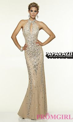 Beaded High Neck Formal Gown by Mori Lee at PromGirl.com