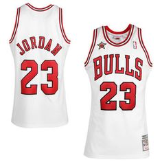 The perfect gift for a die-hard NBA fan. Only a few of these left.. Authentic 1996-97 Michael Jordan throwback Bulls jersey in white. Click for more details! (via nbastore.com)