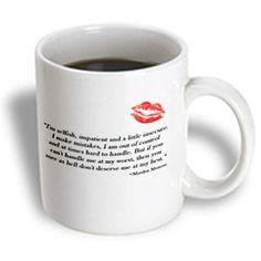 3dRose Famous Marilyn Monroe Quote Ceramic Mug, 11-Ounce 3dRose http://www.amazon.com/dp/B00F0QK2NE/ref=cm_sw_r_pi_dp_v214ub0MHJZFZ
