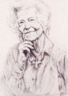 Drawing of old lady