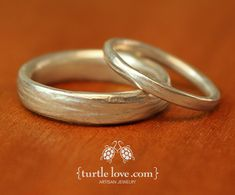 Channel your inner forest nymph with rustic, nature-inspired rings from Turtle…