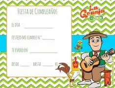 Invitacion Tarjetita Candy Bar La Granja De Zenon Kit Imprimible