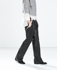 ZARA - WOMAN - STUDIO WIDE LEATHER TROUSERS