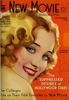 Marian Marsh Rolf Armstrong cover for The New Movie Magazine, Sept 1931