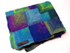 Mitred square baby blanket by Suzie B - LoveKnitting