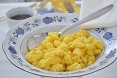 Der Polenta-Sterz wird auch Türkensterz genannt und ist ein typisch steirisches Rezept. Austrian Recipes, Grain Foods, Frittata, One Pot Meals, Soul Food, Risotto, Cauliflower, Macaroni And Cheese, Vegan Recipes