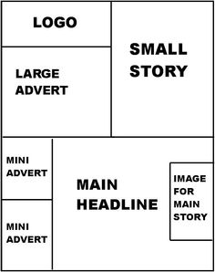 A2 Newspaper Blog: Layout Template