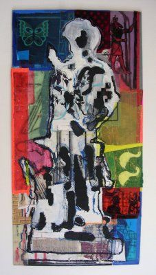 Minuteman, Glory 1, Acrylic and collage on plexi 2007
