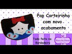 Pap Carteirinha Novo Acabamento ( todo na bordadeira ) - YouTube