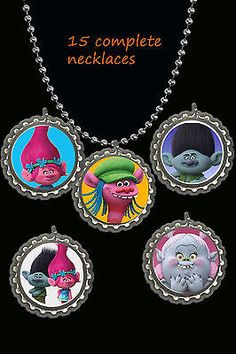 dreamworks trolls movie lot of 10 necklaces necklace loot bag party favors 10  in Home & Garden, Greeting Cards & Party Supply, Party Supplies | eBay