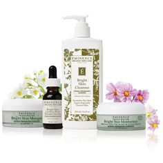 4.Eminence Organic Skin Care My skin has never felt or looked better since I started using Eminence. A little bit on the pricy side, but a little goes a long way. Plus, I don't mind spending the money if it's for my health. I suggest the bright skin cleanser and moisturizer.