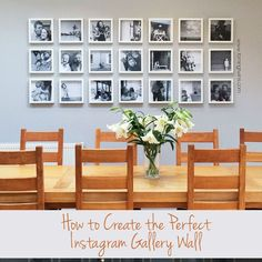How to plan, print and hang the perfect Instagram gallery wall. All of the tips and tricks to get a perfect finish for your photo display.