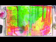 ▶ Art Lessons Vol. 10 with Jane Davenport: Bright Ideas with Daubers and Dye-na-Flow - YouTube