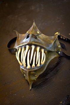 Hand Made Leather Masks | Gargoyle Lower Half Mask Handmade Leather Mask