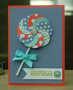 Julie Kettlewell - Stampin Up UK Independent Demonstrator - Order products More Decathlon projects Bday Cards, Kids Birthday Cards, Teen Birthday, Birthday Gifts, Homemade Birthday Cards, Homemade Cards, Homemade Greeting Cards, Making Greeting Cards, Greeting Cards Handmade