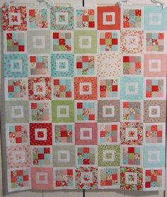 Shortcake Quilt Pattern  Cluck. Cluck. Sew Quilt Patterns  made with jelly roll ---easy to make