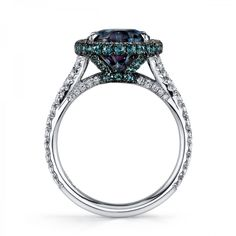 Alexandrite & Diamond Ring