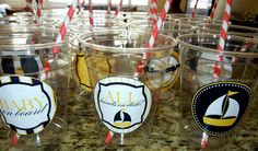 stickers on clear cups {Love the Day printables}
