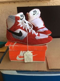 very rare nike greco supreme wrestling shoe from the early 1980's size 7 NIB in Sporting Goods | eBay