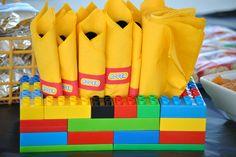 Lego party utensil holder