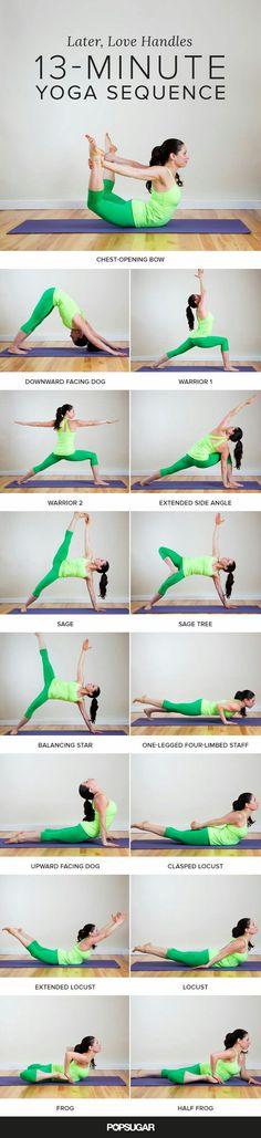 13 минутная йога, комплекс упражнений