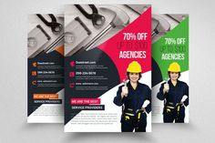 Handyman & Plumber Services Flyer by Design Up on @creativemarket