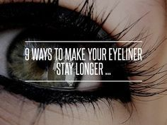 Prevent Your Eyeliner And Mascara From Smudging How To Stop Eyeliner
