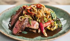 Yes, this really is a diet! Asian beef with pak choi and radishes