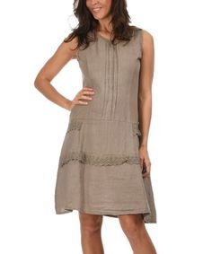 Love this Light Pink Olivia Linen Dress by Couleur Lin on #zulily ...
