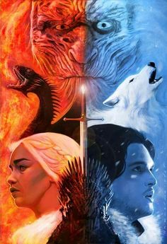As Cronicas de Gelo (Jon) e Fogo (Daenerys)