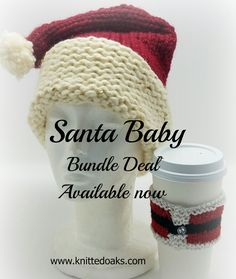 """Our site is now live and our shop is open! Link is in our bio. Stop by and take advantage of this """"Santa Baby"""" bundle deal. #knittedoaks #knitting #knittingpatterns #CyberMonday #bundlesavings #santababy #knitstagram #knittersofinstagram"""