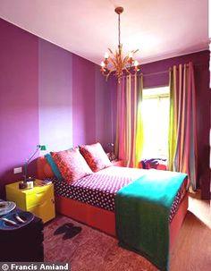Couleurs de chambre vertes sur pinterest peinture de - Une chambre de fille ...