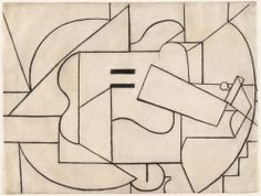 Pablo Picasso (Spanish, 1881-1973). Guitar, Paris, December 1912 or later. Charcoal on paper. 18 1/2 x 24 3/8 in. (47 x 61.9 cm). Gift of Donald B. Marron. The Museum of Modern Art, New York.