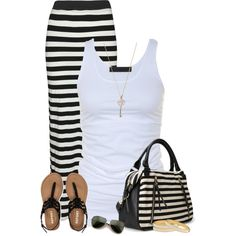 Stripes by cindycook10 on Polyvore featuring Tusnelda Bloch, Aéropostale, Forever 21, Halcyon Days and Wildfox