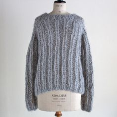 MAIAMI - MOHAIR OVEARSIZED SWEATER (LIGHTGREY)/マイアミ・ニットウェアー