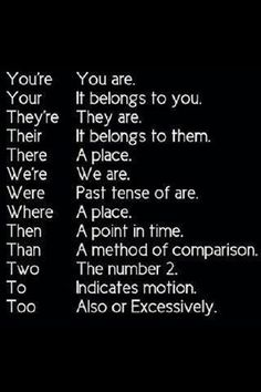 Grammar - Homonyms: words that Sound the Same, but Spelled Differently  -  There are so many memory-tricks - Learn them.