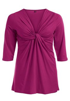 Plus Size Top in soft knit, tunic length