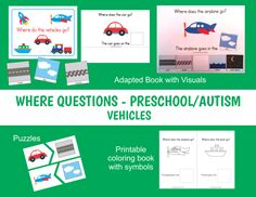 Where Questions Vehicles Adapted Book and Activities