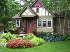 beautiful small front yard landscape ideas water feature green lawn
