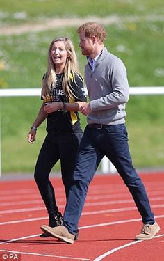 The royal could be seen sharing a joke with Jayne Kavanagh,...