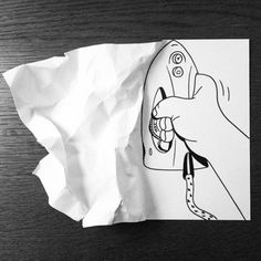 Is there anything cooler than anamorphic art? Whether simple or complex, seeing 2D art jump from a page is pretty flipping awesome. Copenhagen based artist Husmitnavn is having loads of fun in his latest series. He folds, crumples, and tears paper to make simple, unique drawings that appear to come alive when viewed from the right angle. Check out more fun work by Huskmitnavn on his tumblr. Read more at…