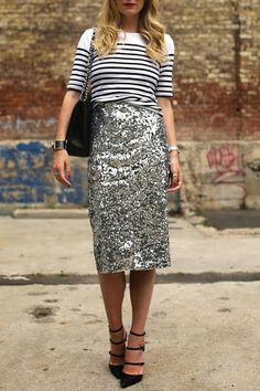 9 Ways to Wear a T-Shirt to a Party via @PureWow